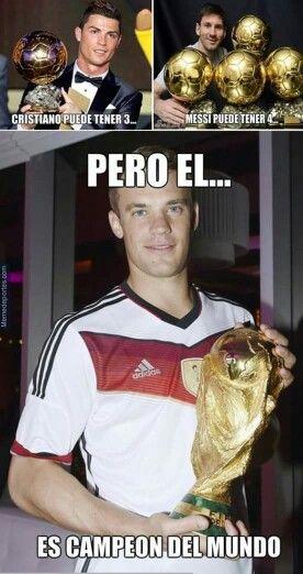 Neuer merecía el balón de oro.