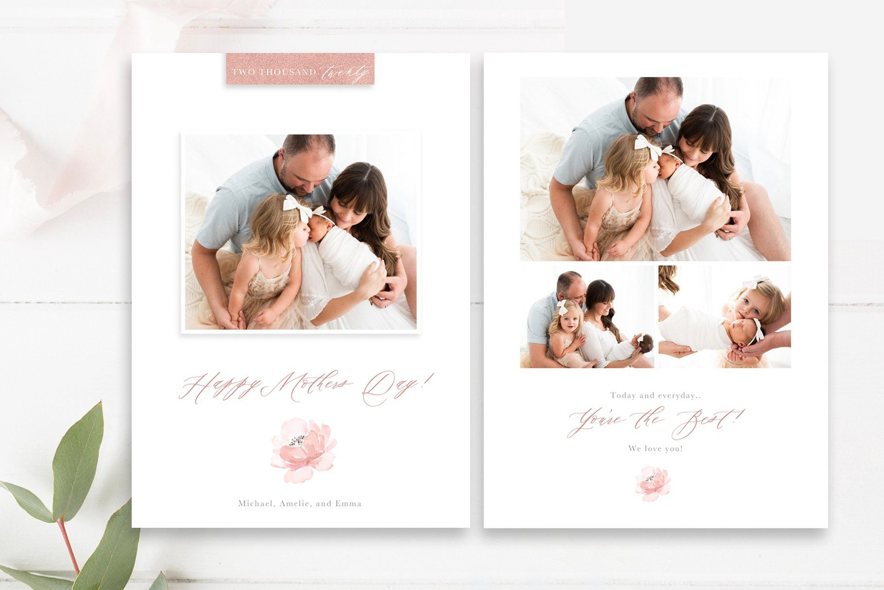 Mothers Day Photo Card Psd Photo Card Template Mother S Day Photos Photoshop Template Design