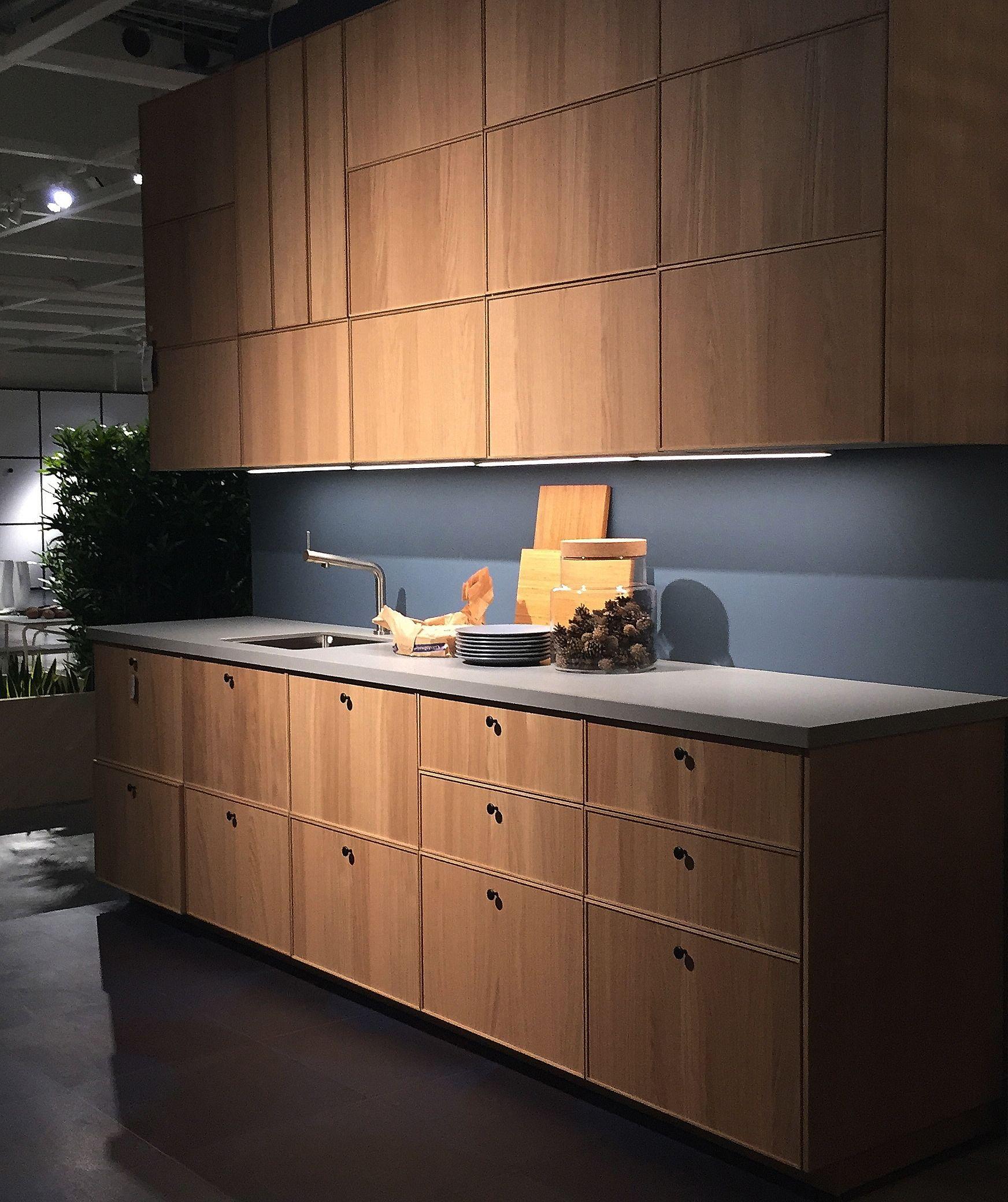 Ikea Ekestad Keuken Minimalistische Bespoke Birch Ply And Formica