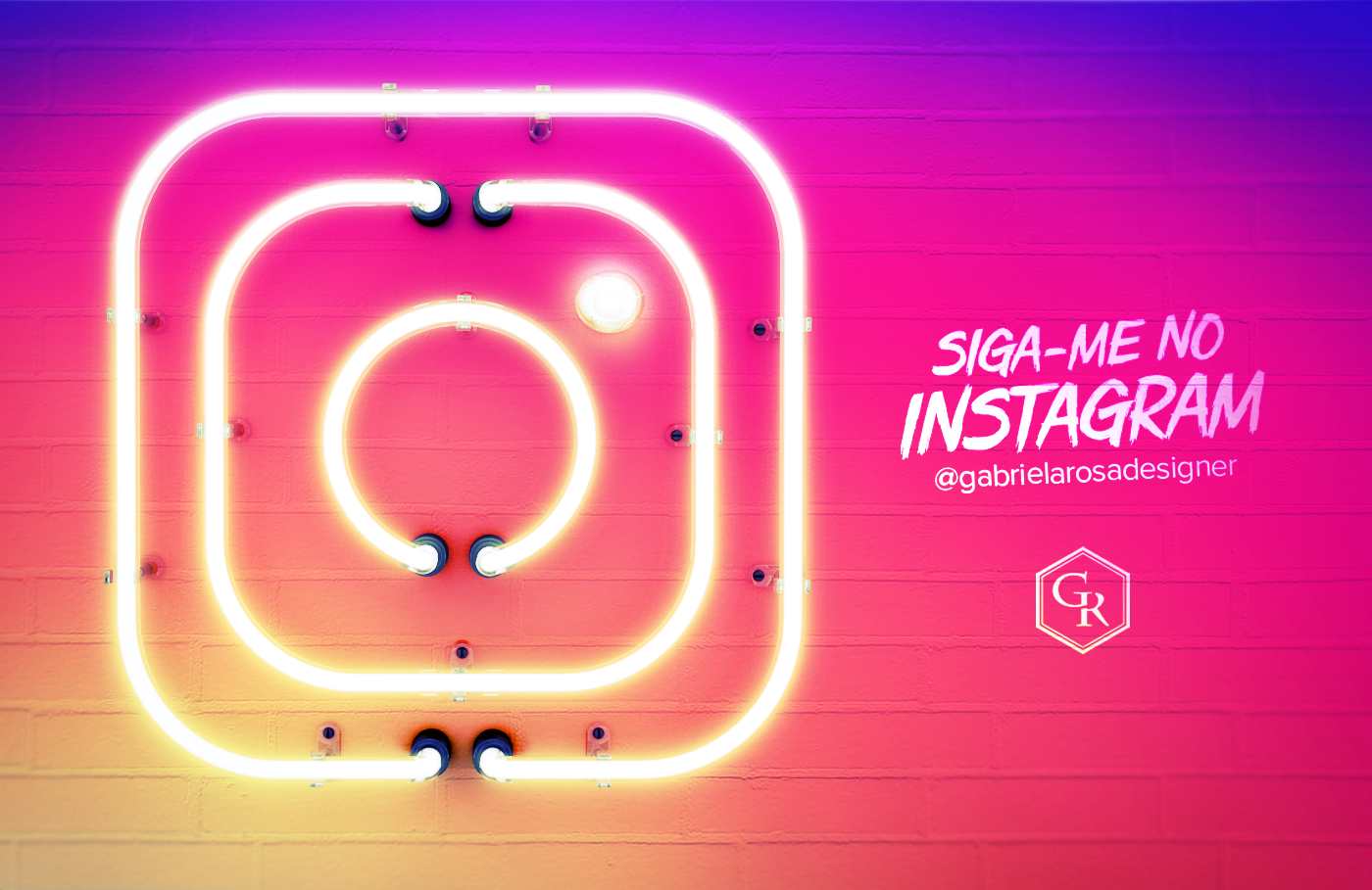 Instagram Neon Sign on Behance Neon signs, Neon design