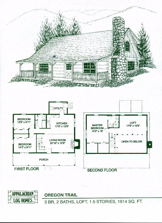 Oregon Trail 3 Bed 2 Bath 1 5 Stories 1914 Sq Ft Appalachian Log Timber Homes Hybrid Hom Cabin House Plans Log Cabin Floor Plans Cottage Floor Plans