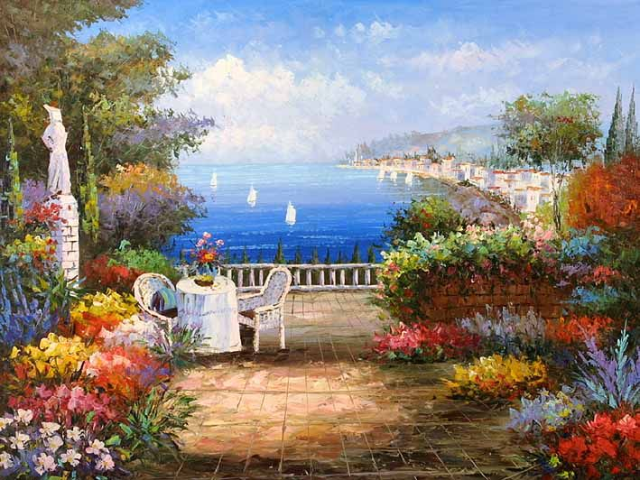 Mediterranean scenery mediterranean sceneries for Atlanta oil painting artists