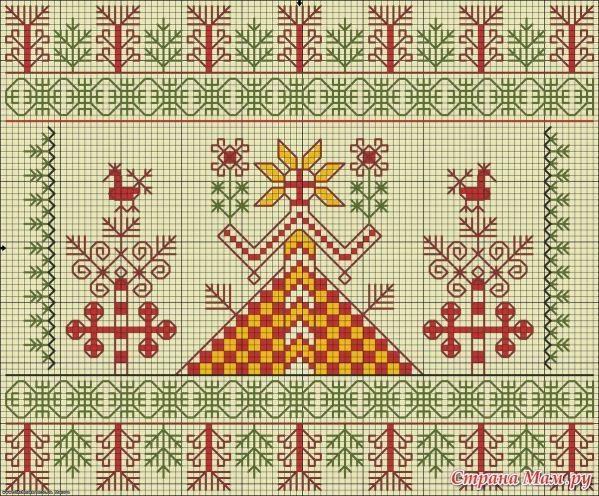 Оберег славян вышивка схемы