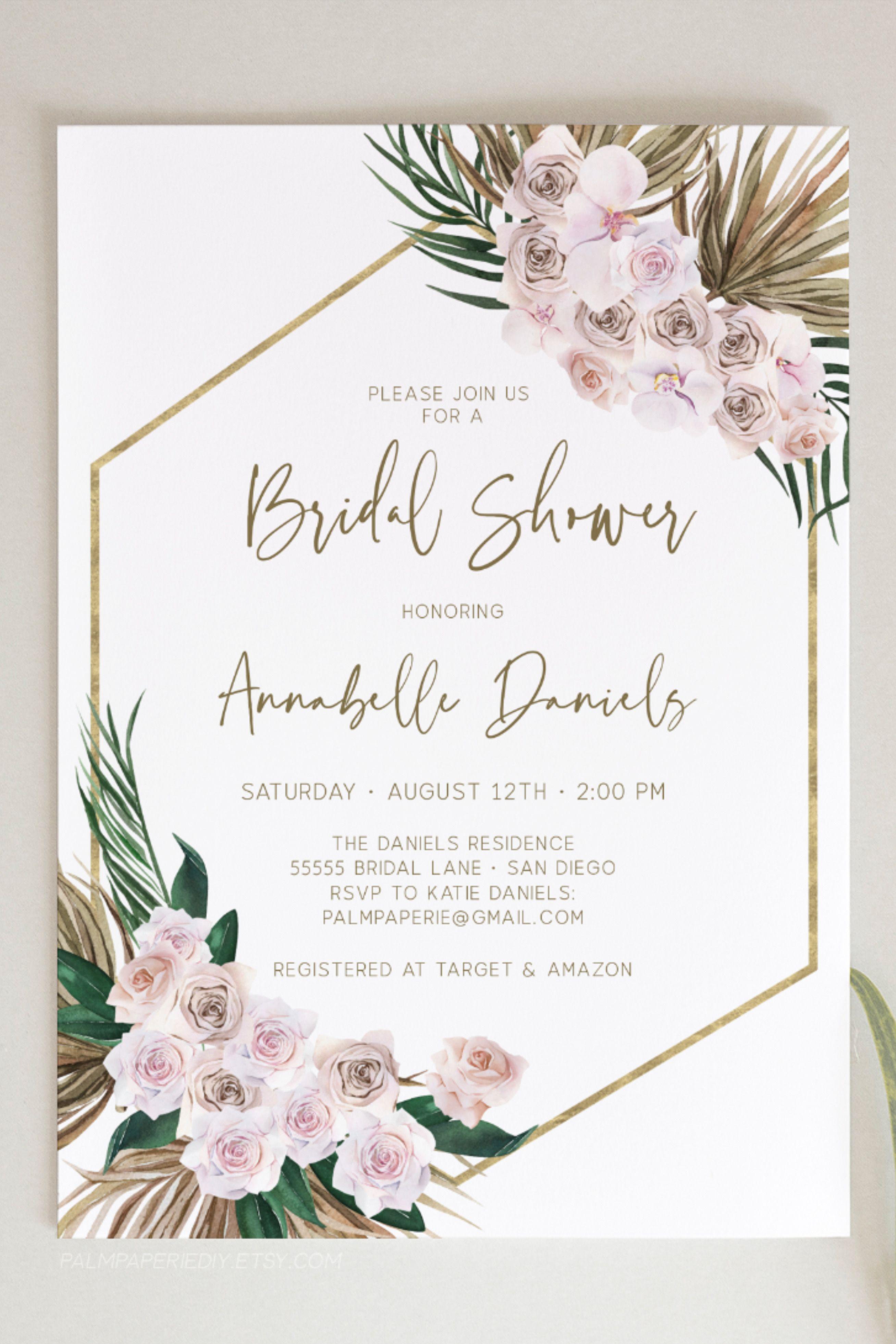 Christmas Bridal Shower Invitation Geometric Bridal Shower Invitation Editable Template Christmas Floral Bridal Shower Invitation