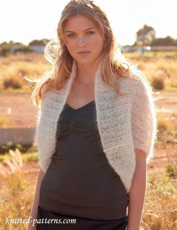 Shrug knitting pattern free | Knit | Pinterest | Shrug knitting ...