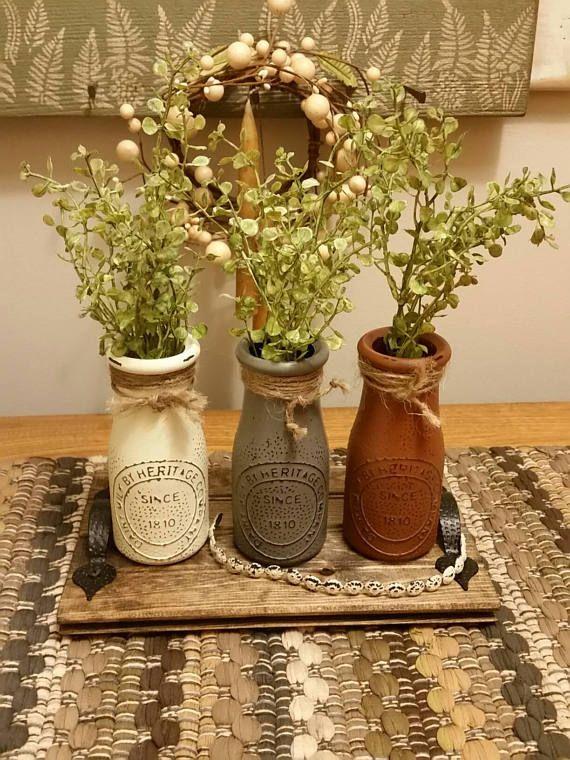 Bottle Centerpiece Milk Bottle Decor Vase Centerpiece