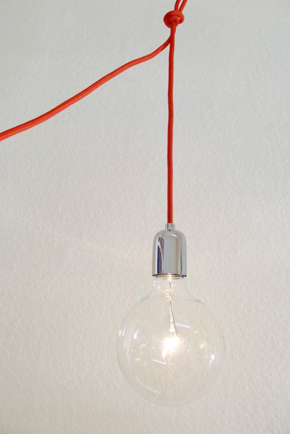 lampe mit textilkabel fr wohnzimmer, haken fr versch ...