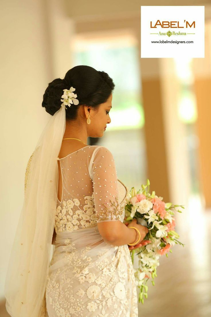 Image result for white wedding saree | white wedding ...