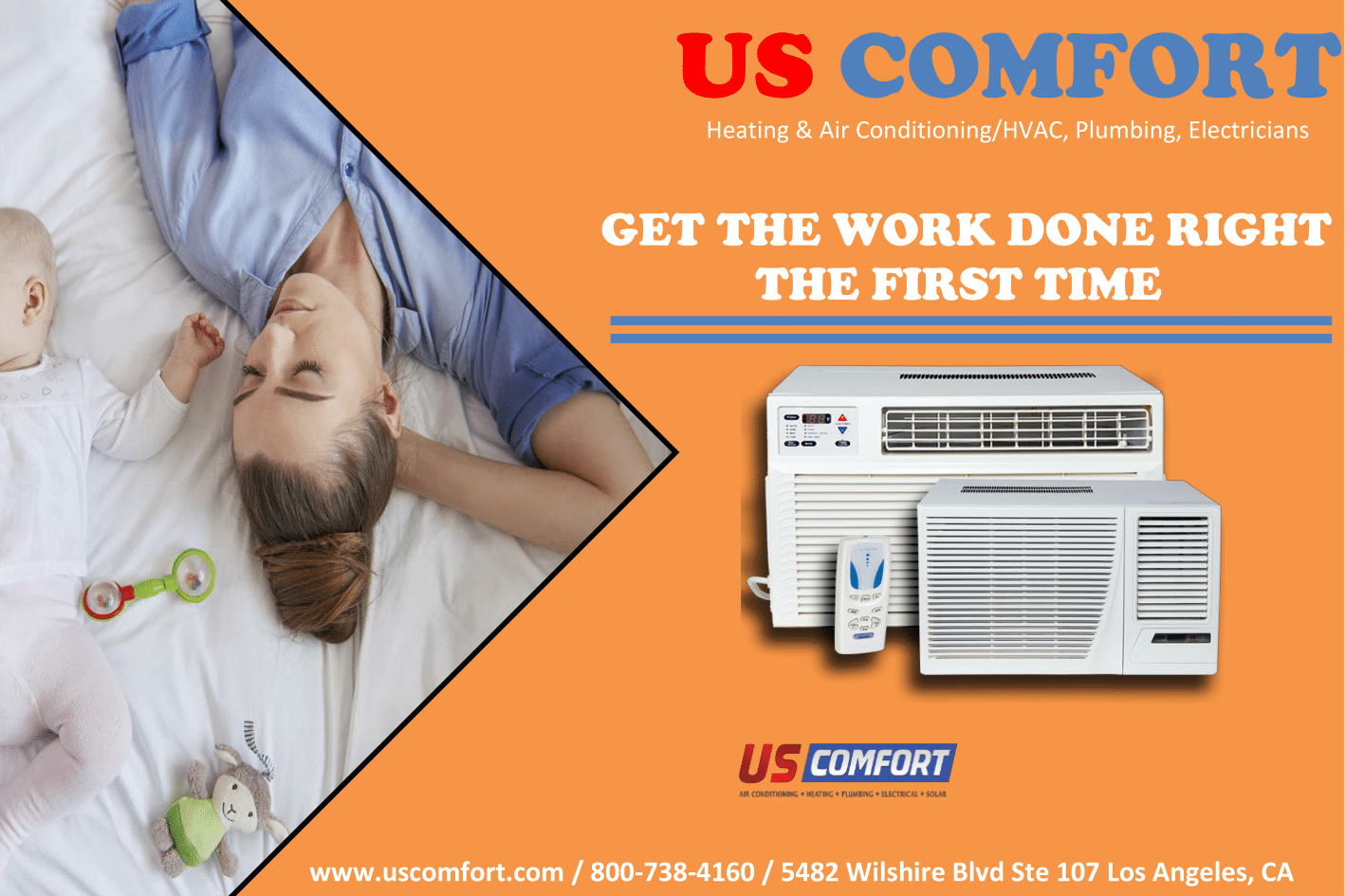 Us Comfort Is The Air Conditioning Heating Plumbing And