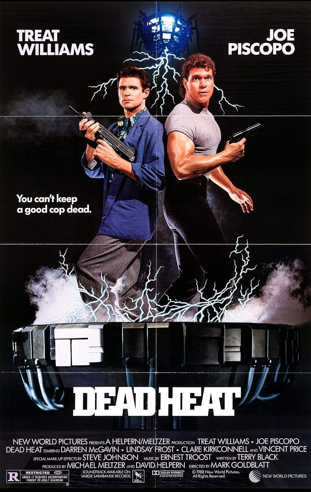 """You can't keep a good cop dead. "" Dead Heat (1988) poster"