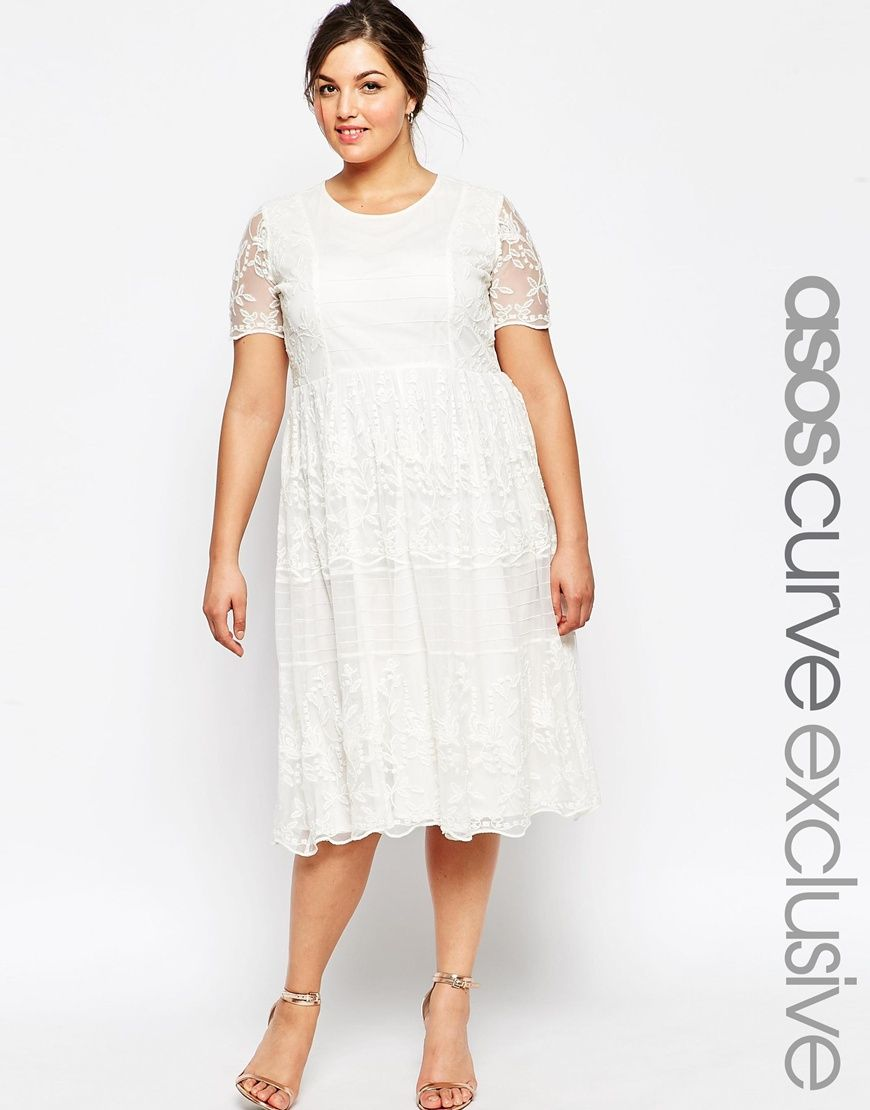ASOS+CURVE+Midi+Mesh+Dress+With+Embroidery | Fashion stuff ...