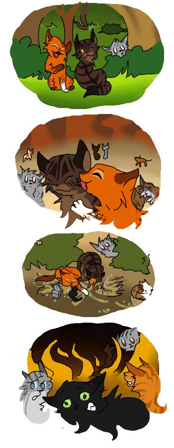 Ashfur the photobomber... Warrior cats
