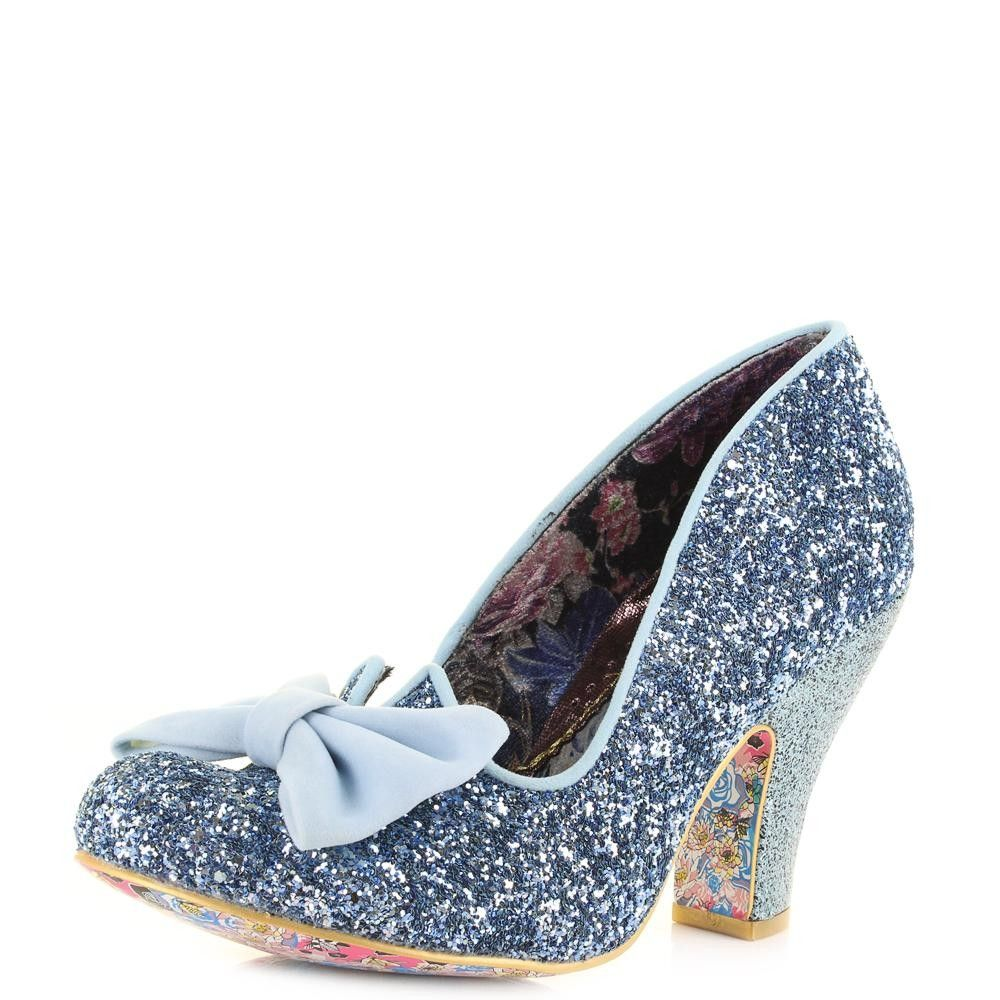 Irregular Choice Damen Nick of Time Pumps, Blue (Pale Blue), 40 EU (6.5 UK)