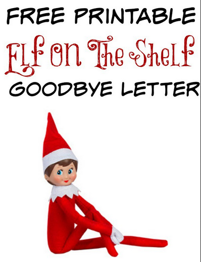Massif image regarding elf on the shelf goodbye letter printable