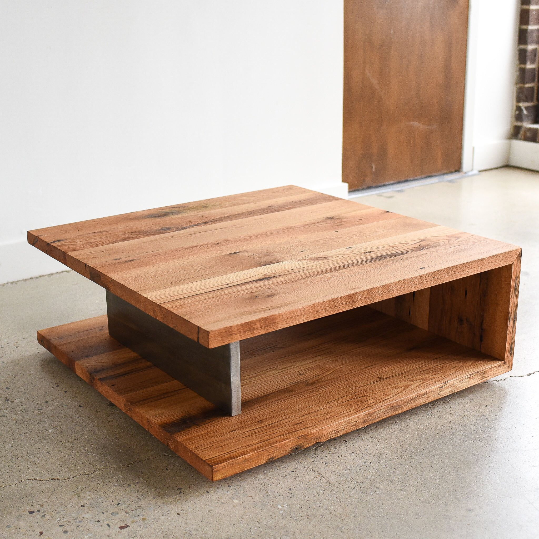 Modern Coffee Table Square Open Shelf Coffee Table Made From Reclaimed Wood Modern Square Coffee Table Modern Wood Coffee Table Coffee Table Square [ 2048 x 2048 Pixel ]