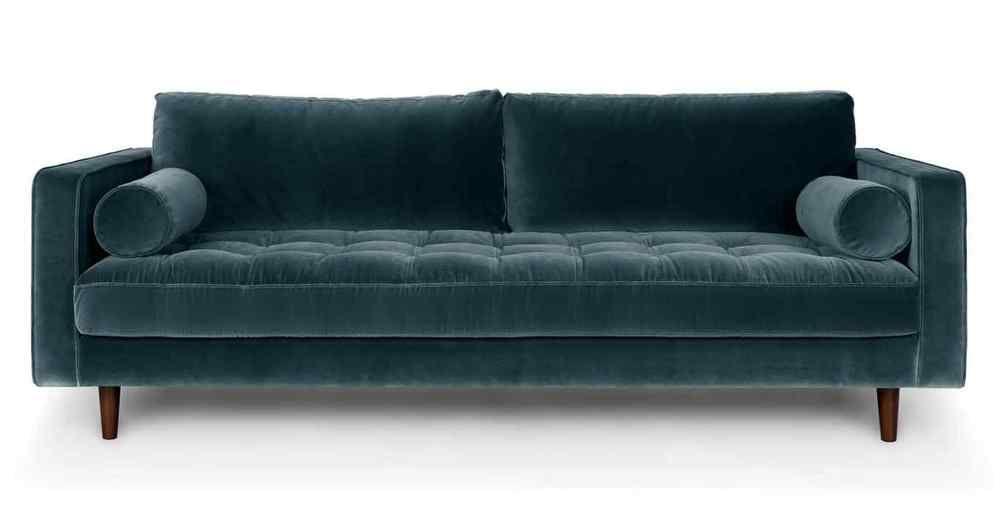 brand new harper scott petrol velvet 3 seater sofa rrp 999 rh pinterest com