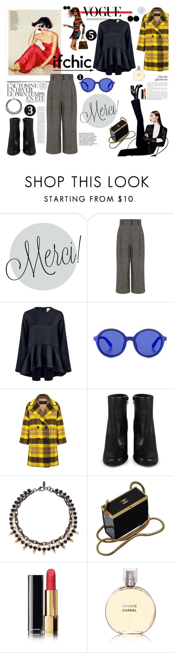 """Stylish with @ifchic.com"" by pieracuzman ❤ liked on Polyvore featuring Dunn, Pink Tartan, Edit, Etnia Barcelona, Miista, Été Swim, Joomi Lim and Chanel"