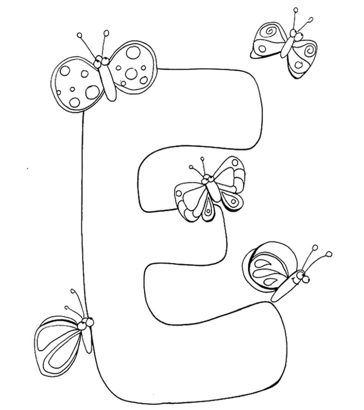 Letter E Coloring Page For Toddlers