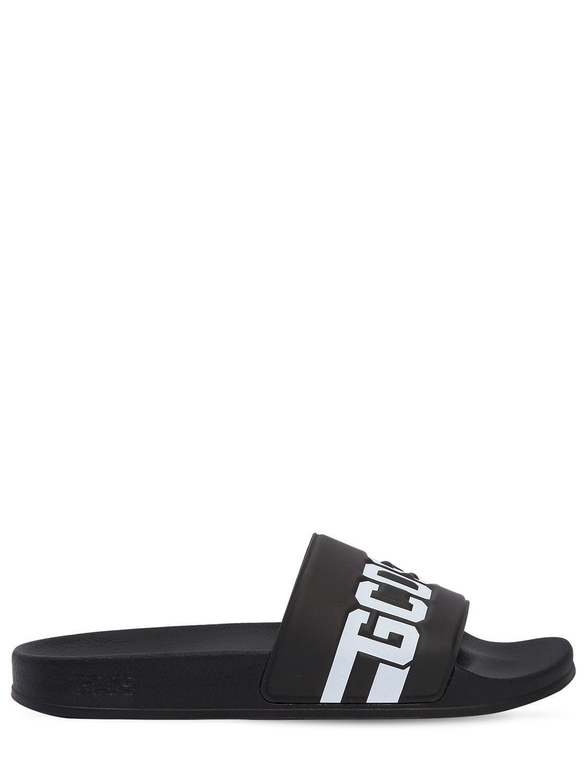 81ee5db92281 GCDS LOGO EMBOSSED RUBBER SLIDE SANDALS.  gcds  shoes