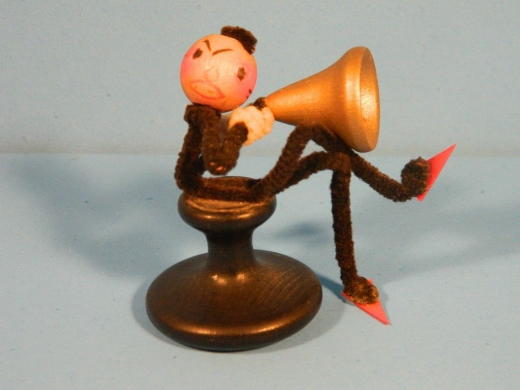 Antique Vintage Pipe Cleaner Figure Angry Director 1930s Motion Pictures | eBay