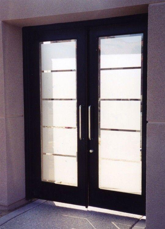 Frosted Glass Bifold Door Design With Wooden Door Frame Interior Pintu Kaca Rumah