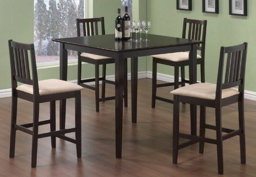 Coaster Dining Table And Stools 5 Piece Set Counter Height