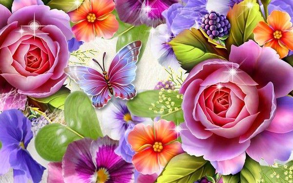 Fond D Ecran Bouquets Fleurs Flowers Wallpapers Wallpapers And