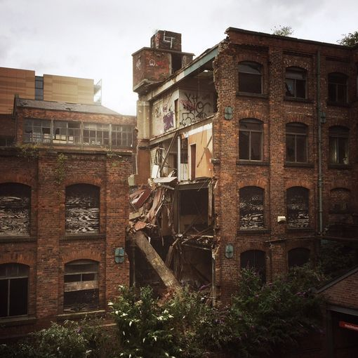 Castlefield Building Collapse On Hulme Hall Road
