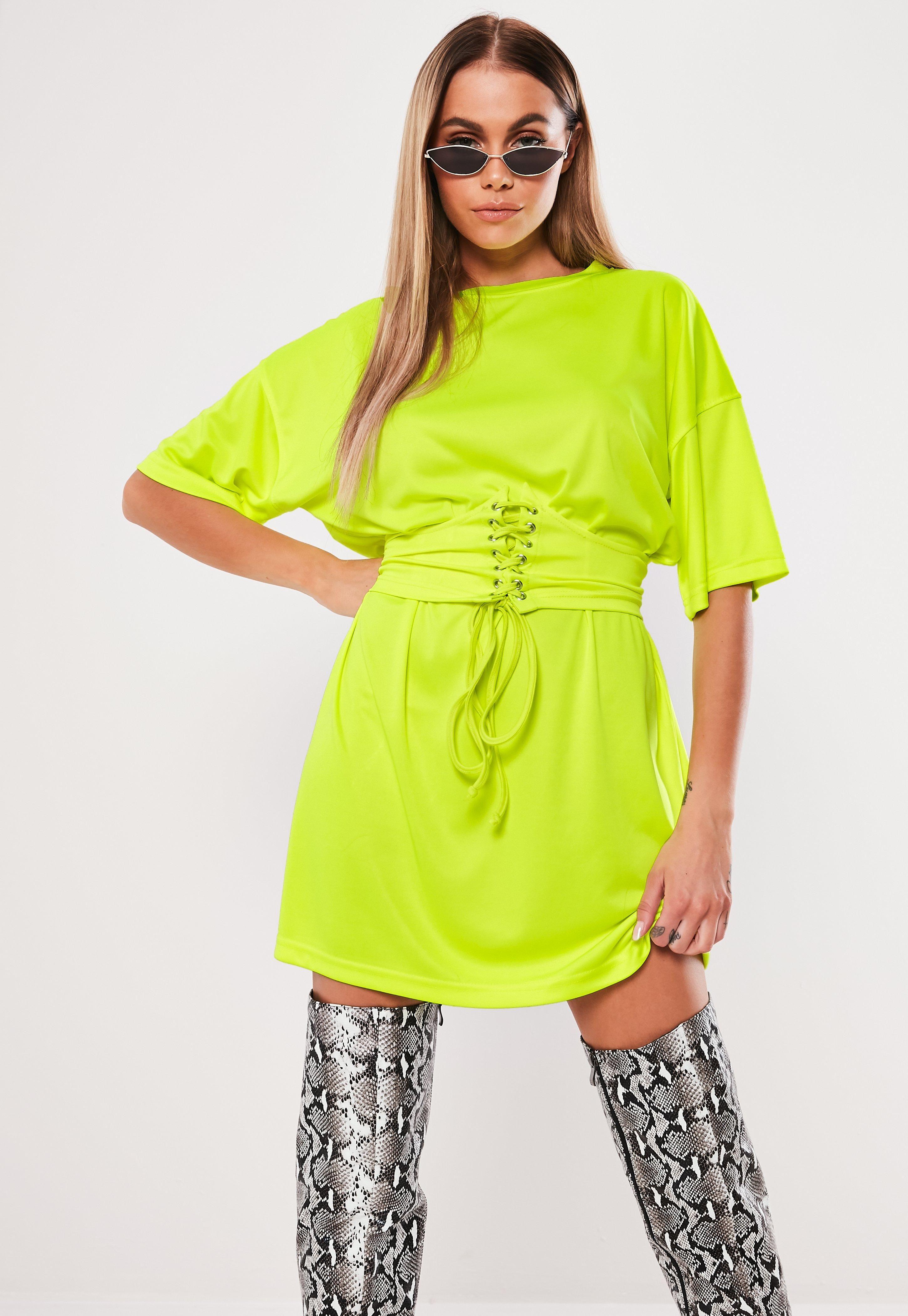 377deed2f9 Neon Yellow Oversized Corset T Shirt Dress #Sponsored #Oversized,  #Affiliate, #
