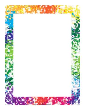 Colorful Border Clip Art Borders Colorful Borders Page Borders