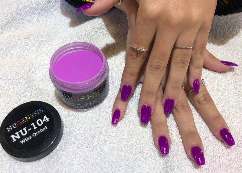 Sample 2 Nugenesis Nu104 Wild Orchild Powder Nails Nail Dipping Powder Colors Dipped Nails