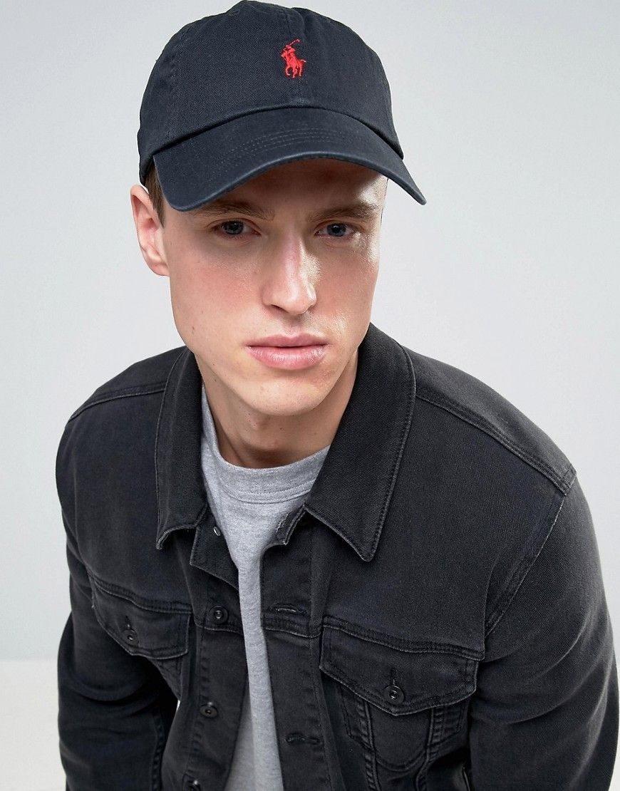 Get this Polo Ralph Lauren s cap now! Click for more details. Worldwide  shipping. Polo Ralph Lauren Logo Baseball Cap - Black  Baseball cap by Polo  Ralph ... 191db21cb3a