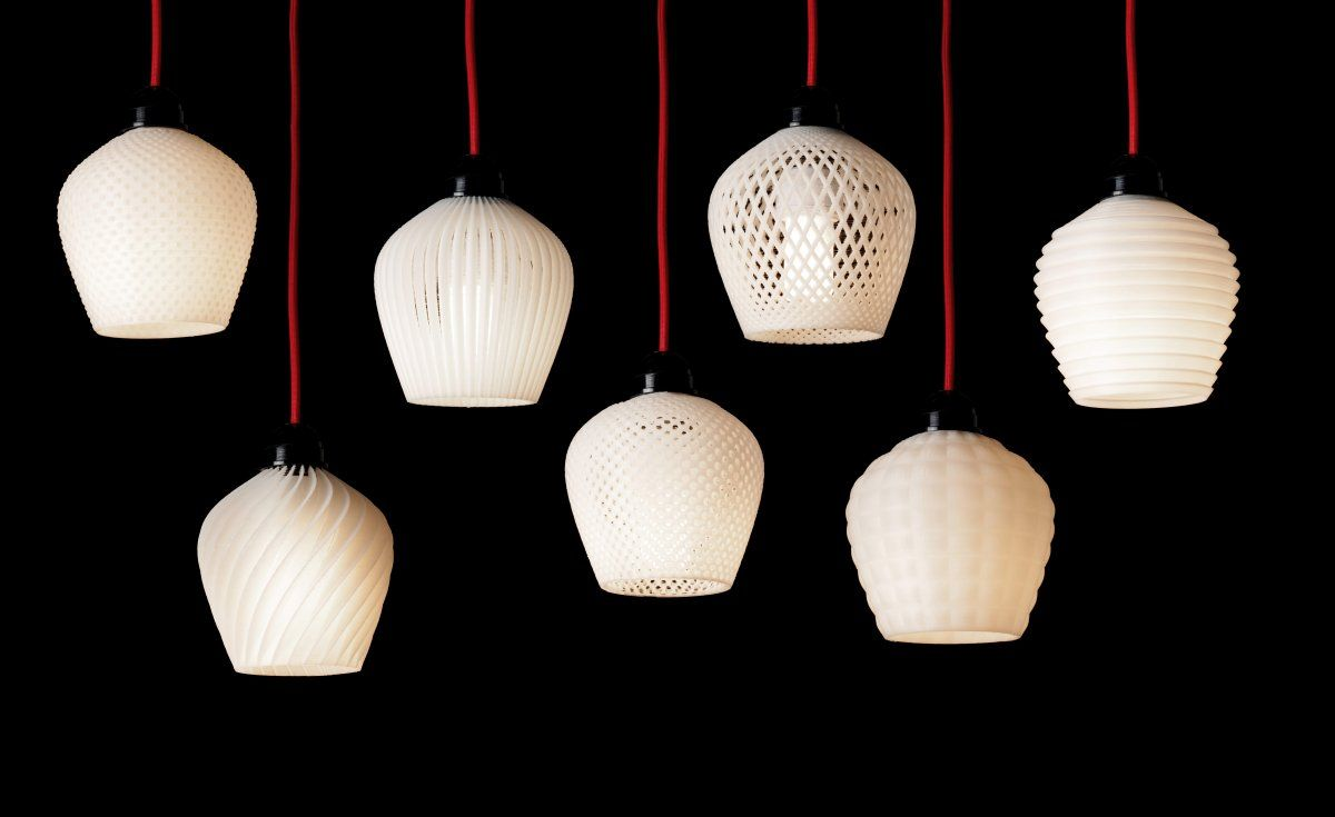 Dentelle 2012 By French Designer Samuel Bernier 3d Printed Lampshades Lampe Murale Lampadaire Lampe Ikea
