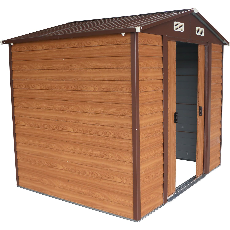 8\'x6\' Storage Shed Backyard Outdoor Garden Garage Tool Kit Building ...