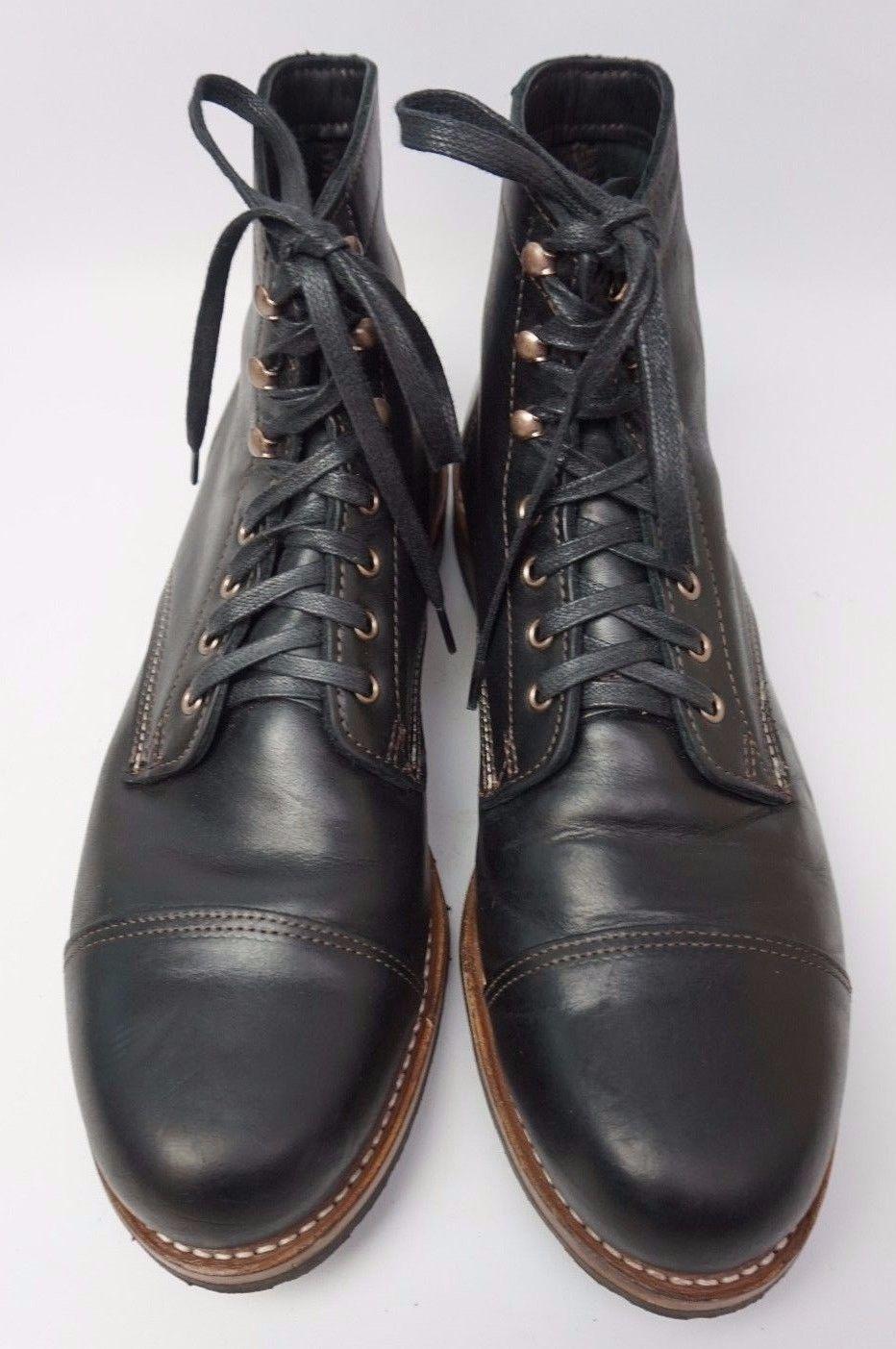 0679fe87760 Wolverine 1000 Mile Adrian Cap Toe Black Leather Men s Boot Size 13 ...