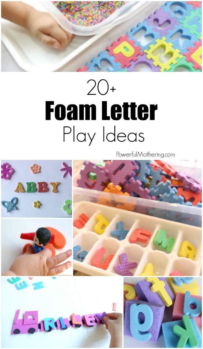 20+ Foam Letter Play Ideas for Kids
