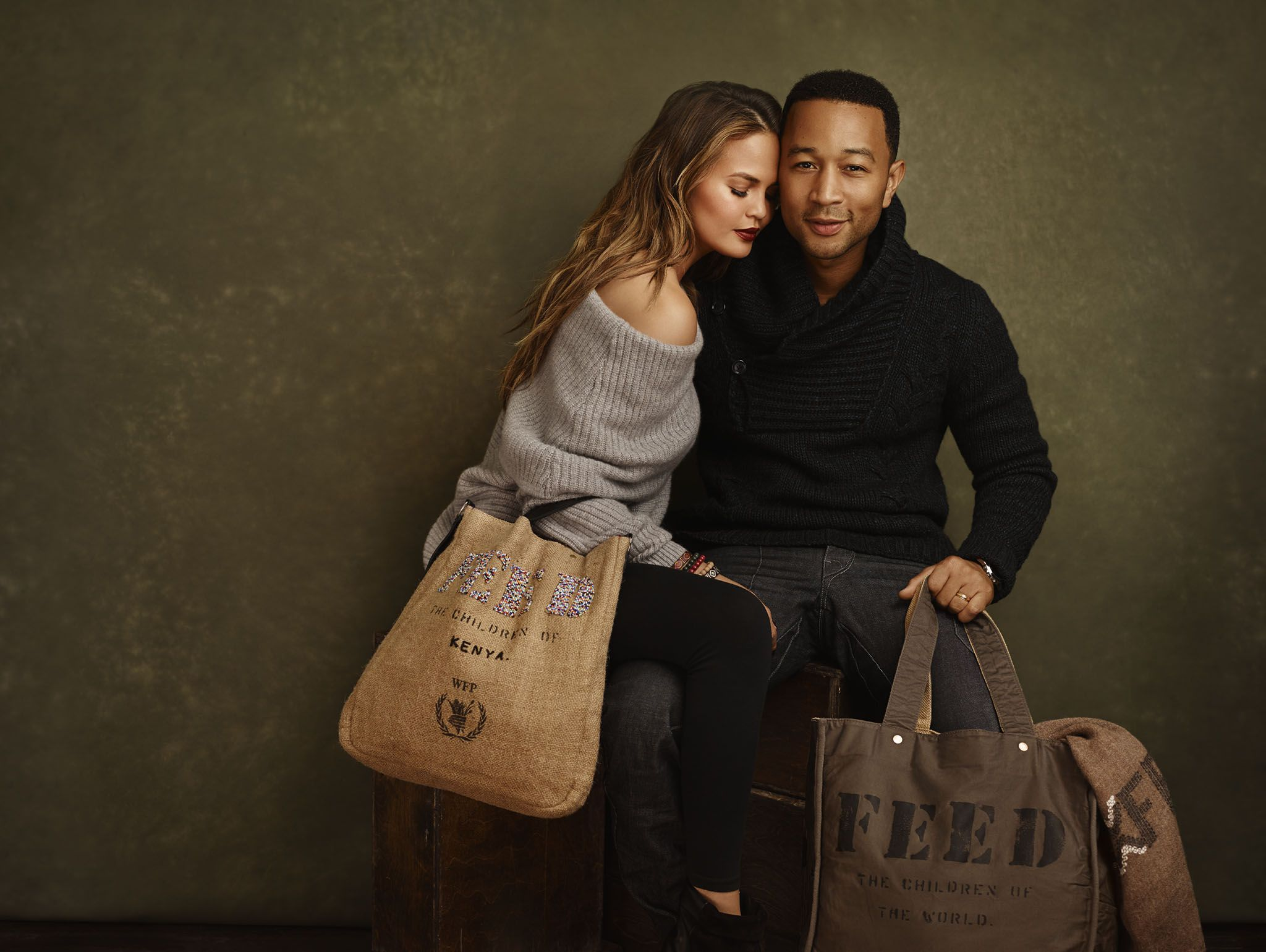 John Legend And Chrissy Teigen For Feed Projects Model Musician