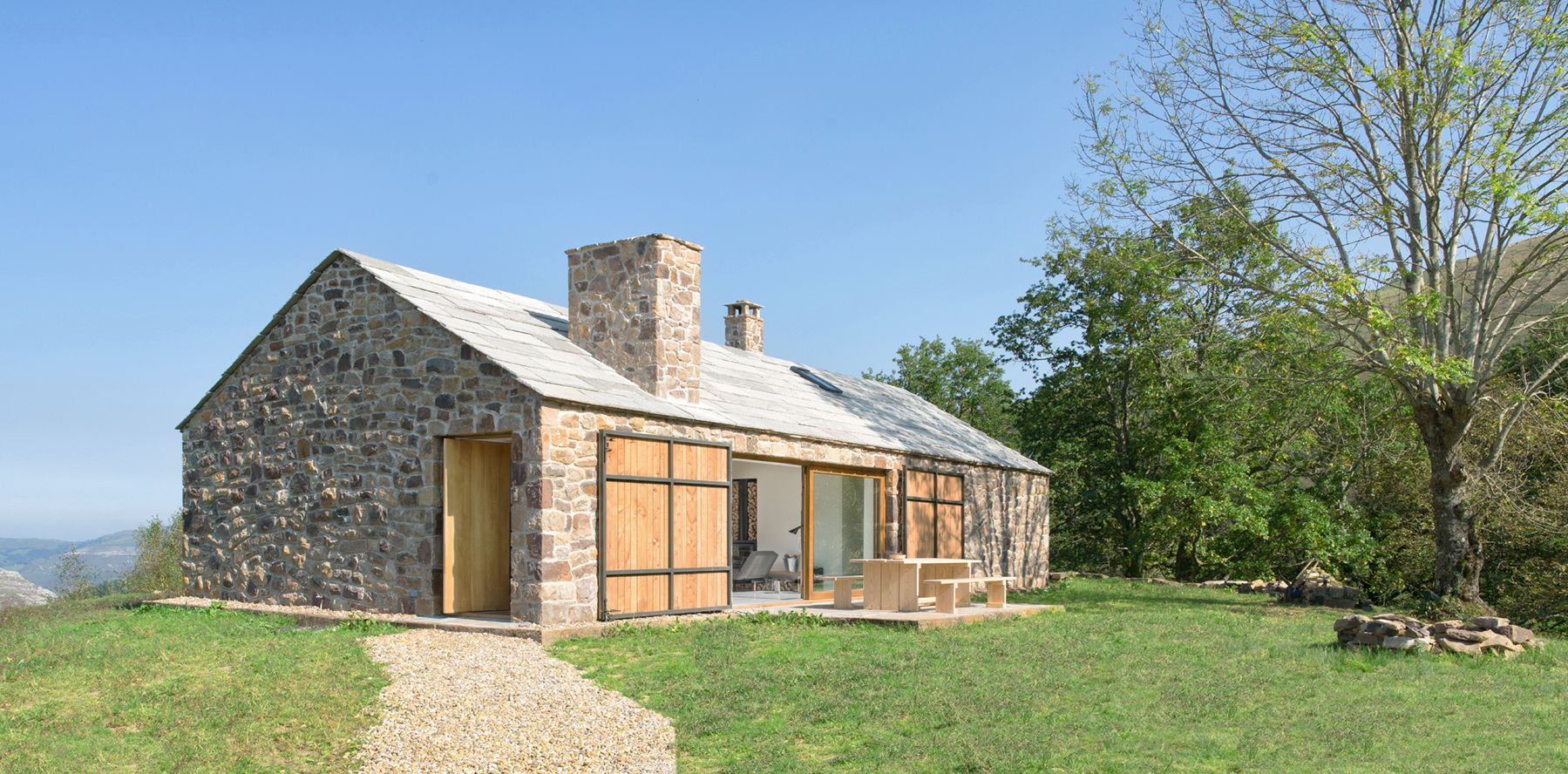 This Spanish Cottage Is Any Minimalist S Dream House Ultralinx In 2020 Stone Cottage Stone Cottages Architecture