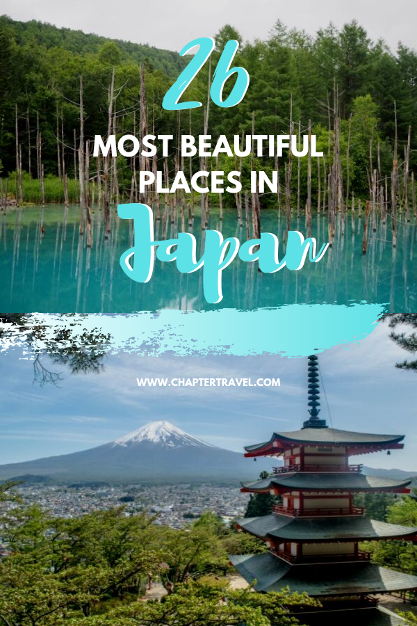 Are you looking for the most beautiful places in Japan? For this article I've asked various travel bloggers to share what they think is the most beautiful place in Japan. It resulted in this article 26 breathtaking places with both popular and more off the beaten track destinations in Japan. Hopefully this article will help you plan your unforgettable trip to Japan! #Japan #Wanderlust