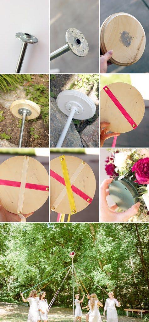 Make A Maypole The House That Lars Built Beltane Renaissance Festival Diy Holiday Help