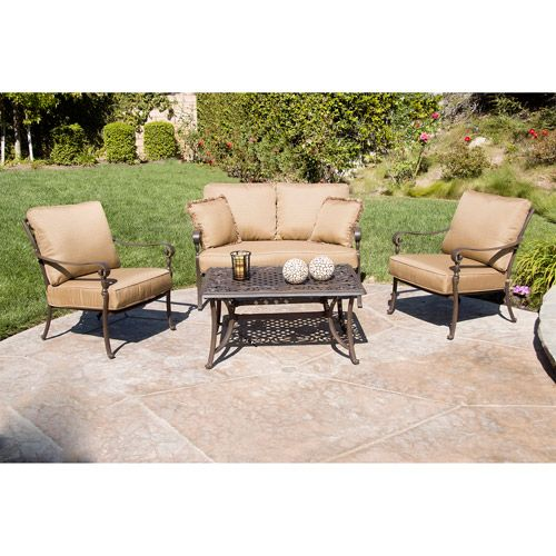 Better Homes And Gardens Lake In The Woods Patio Conversation Set Seats 4