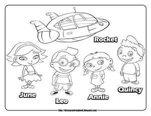 Little Einsteins Coloring Pages For Cade S Graduation Party From