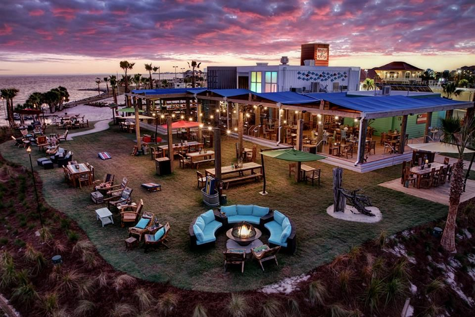 Red Fish Blue Is The Newest Outdoor Waterfront Restaurant On Pensacola Beach Built With Repurposed