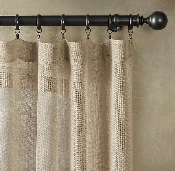 Open weave sheer linen drapery curtains for the home for Linen curtains ikea