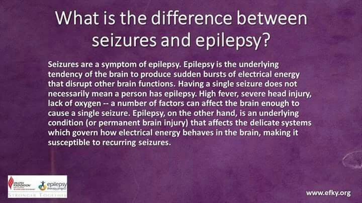 The difference between seizures & epilepsy | Epilepsy ...