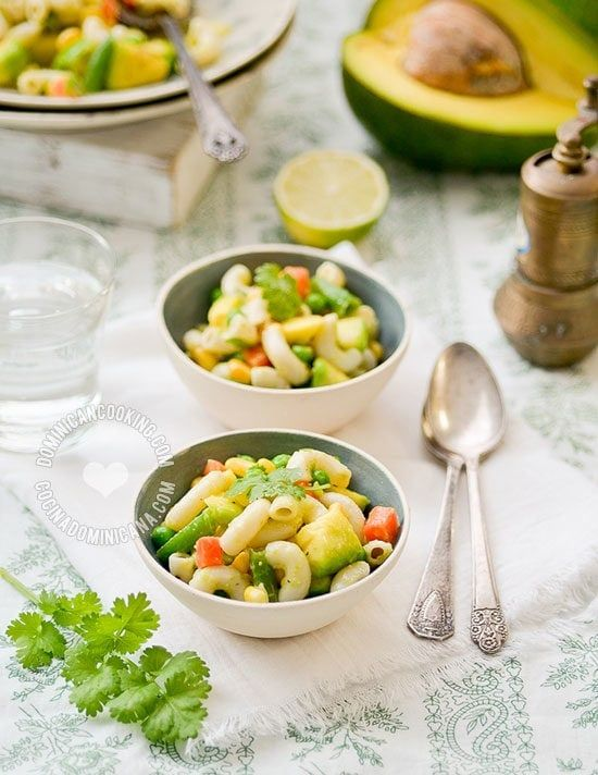 Pasta and Avocado Salad This awesome, creamy Pasta and Avocado Salad is a classic reinvented, with all the flavor of avocado and a lot lighter. A new summer classic!
