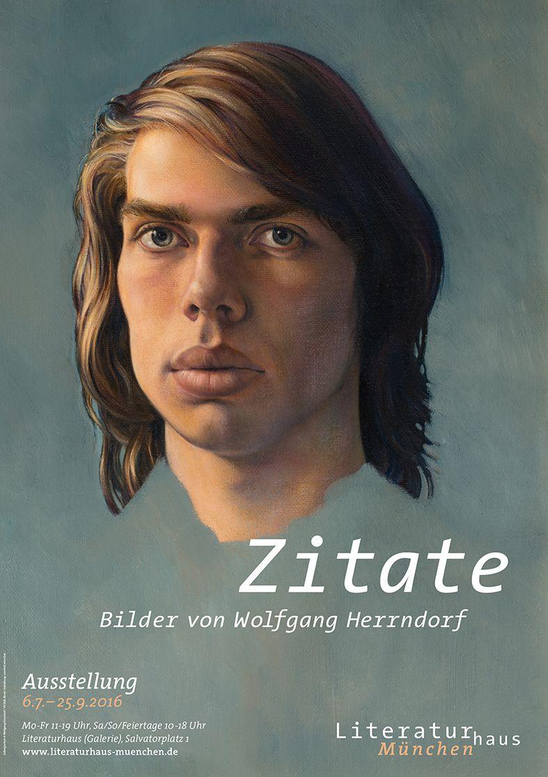 »Zitate. Bilder von Wolfgang Herrndorf« Eine Ausstellung im Literaturhaus München (6.7. bis 25.9.2016) Kurator: Jens Kloppmann