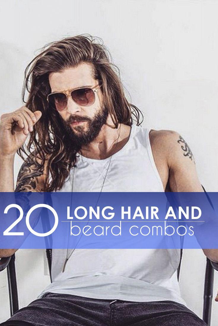 20 Long Hair and Beard Combos #men #hair #facialhair