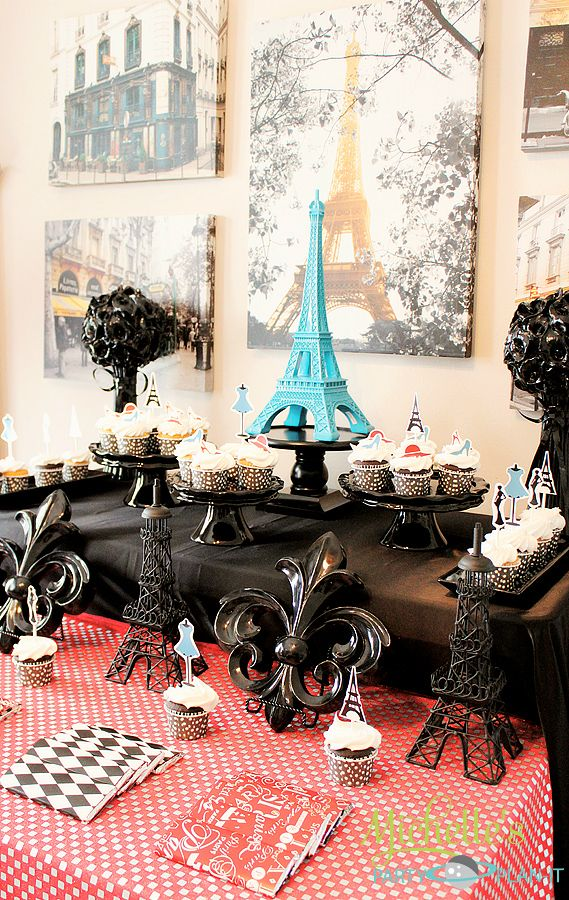 a day in paris dessert table parisian party paris cakes and girl birthday. Black Bedroom Furniture Sets. Home Design Ideas