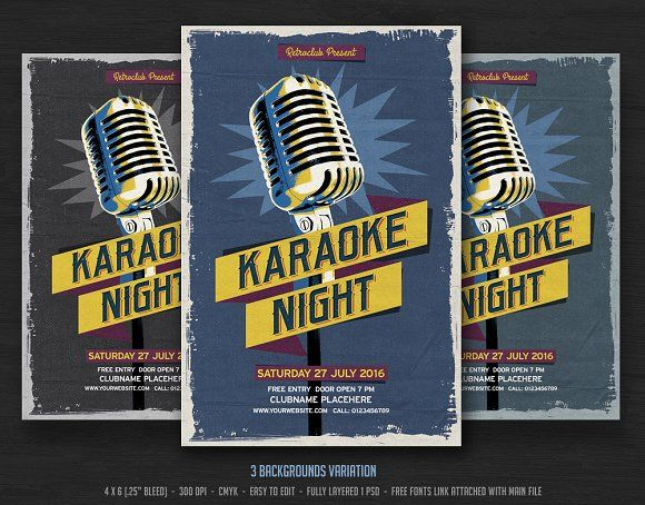 Karaoke Night  Karaoke Template And Flyer Template